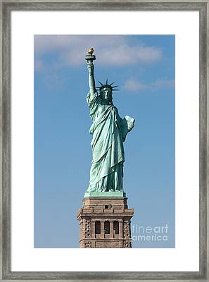 Statue Of Liberty Iv Framed Print by Clarence Holmes
