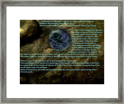 Statue Of Liberty Penny Micro Photo 3 Framed Print by Phillip H George