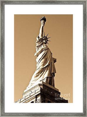 Statue Of Liberty Framed Print by Syed Aqueel