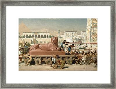 Statue Of Sekhmet Being Transported  Detail Of Israel In Egypt Framed Print by Sir Edward John Poynter