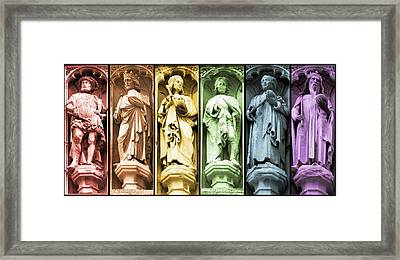 Statues Adorning St George's Cathedral Framed Print by Lisa Knechtel