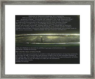 Stature Of Liberty In The Dawns Fog  Framed Print by Phillip H George
