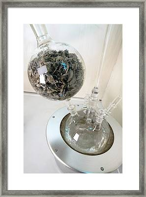 Steam Distillation Of Sage Leaves Framed Print by Dilston Physic Gardencolin Cuthbert