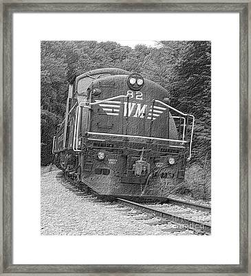 Steam Engine Eighty Two Framed Print by Denise Jenks