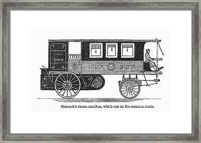 Steam Omnibus, 1830s Framed Print by Granger