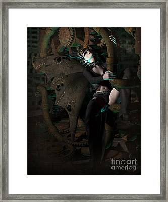 Steam Punk Fairy Framed Print by Georgina Hannay