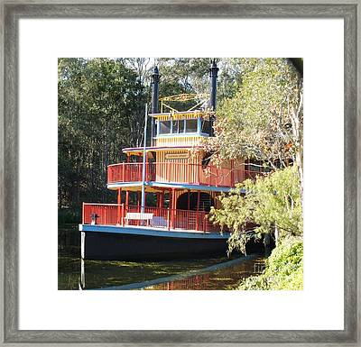 Steamboat At Dreamworld Framed Print by Therese Alcorn