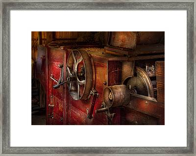Steampunk - Gear - It Used To Work Framed Print by Mike Savad