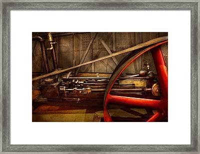 Steampunk - Machine - The Wheel Works Framed Print by Mike Savad