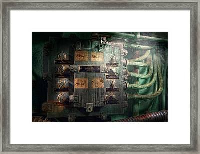 Steampunk - Naval - Electric - Lighting Control Panel Framed Print by Mike Savad