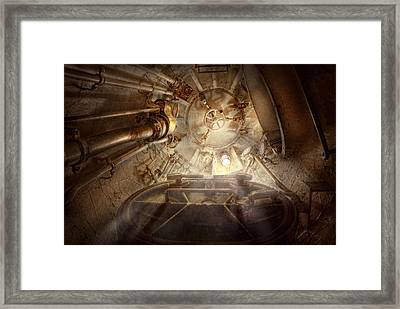 Steampunk - Naval - The Escape Hatch Framed Print by Mike Savad