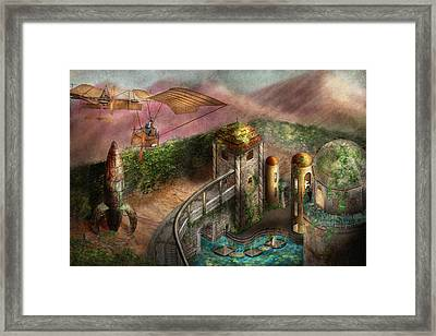 Steampunk - The Age Of Invention Framed Print by Mike Savad