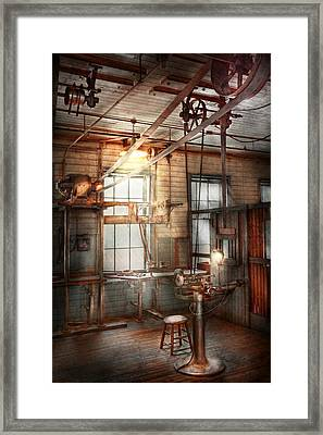 Steampunk - Machinist - The Grinding Station Framed Print by Mike Savad