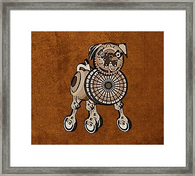 Steampunk Pug Framed Print by Mary Ogle