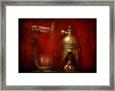Steampunk - The Torch Framed Print by Mike Savad