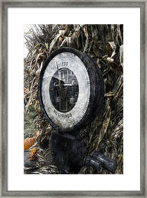 Steampunkin Scale Framed Print by Peter Chilelli