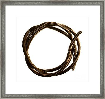 Steel Cable Framed Print by Tony Cordoza