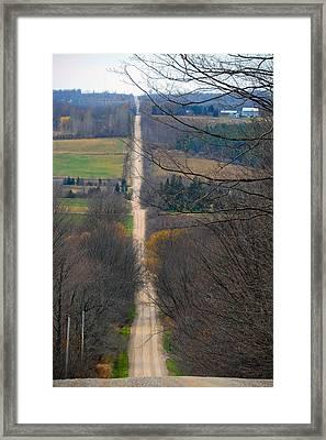 Steep Slide Framed Print by Cyryn Fyrcyd