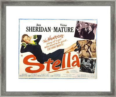 Stella, Ann Sheridan, 1950 Framed Print by Everett