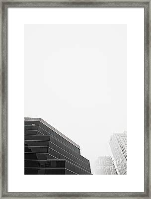 Step Tiered Office Building With Dark Windows Framed Print by Jetta Productions, Inc