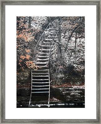 Steps  Framed Print by Jon Baldwin  Art