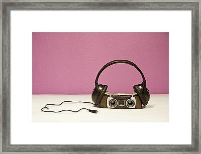 Stereophonic Camera Framed Print by Pedro Díaz Molins