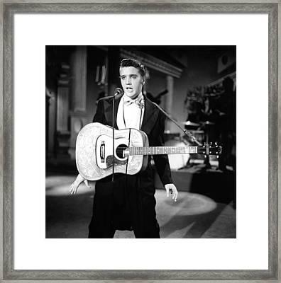 Steve Allen Show, 1956-61, Elvis Framed Print by Everett