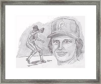 Steve Carlton- Lefty Framed Print by Chris  DelVecchio