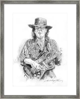 Stevie's Blues Framed Print by David Lloyd Glover