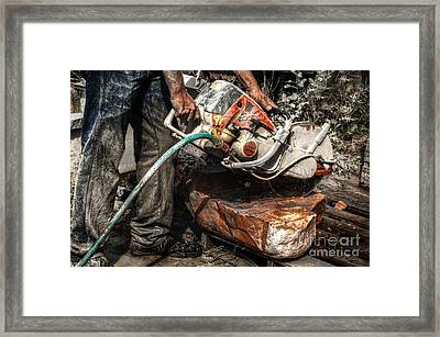 Stihl Life Framed Print by The Stone Age