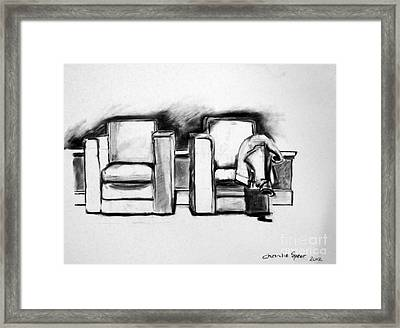 Still Life Pair Of Chairs Framed Print by Charlie Spear