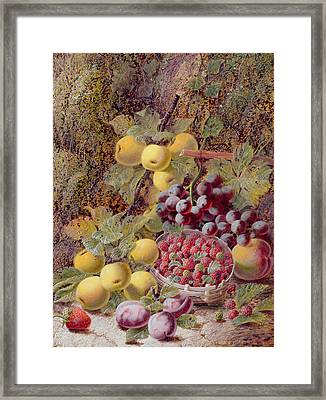 Still Life With Fruit Framed Print by Oliver Clare