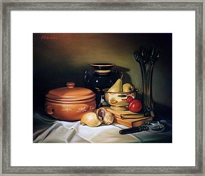 Still Life With Pears Framed Print by Patrick Anthony Pierson