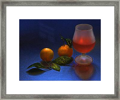 Still Life With Tangerins Framed Print by Vladimir Kholostykh