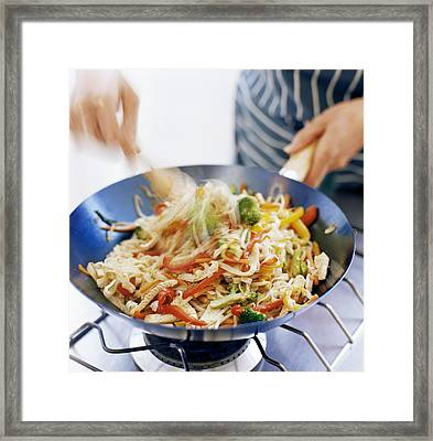 Stir Fry Framed Print by David Munns