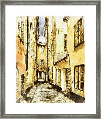 Stockholm Old City Framed Print by Yury Malkov