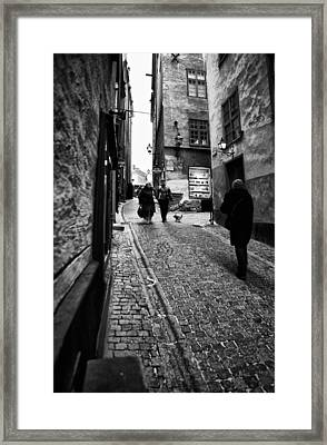 Stockholm Old Town Framed Print by Stelios Kleanthous