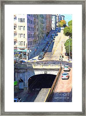 Stockton Street Tunnel Midday Late Summer In San Francisco Framed Print by Wingsdomain Art and Photography