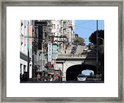 Stockton Street Tunnel San Francisco . 7d7355 Framed Print by Wingsdomain Art and Photography