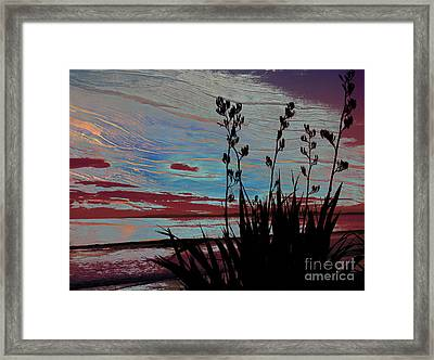 Stolen Sunset Framed Print by Karen Lewis