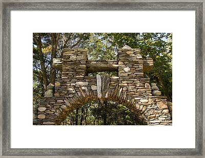 Stone Archway At The Entrance Framed Print by Todd Gipstein