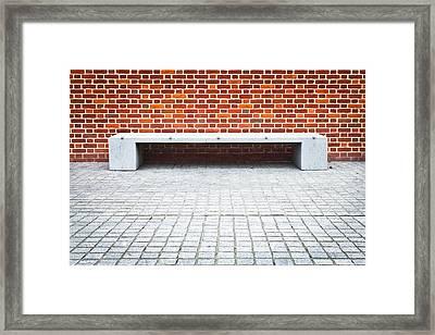 Stone Bench Framed Print by Tom Gowanlock