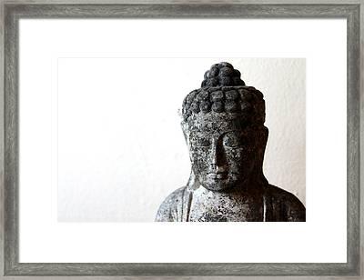 Stone Buddha Framed Print by Janita Topan
