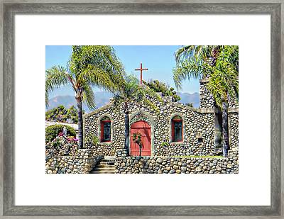 Stone Chapel Framed Print by Michelle Frizzell-Thompson