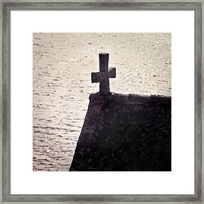 Stone Cross Framed Print by Joana Kruse