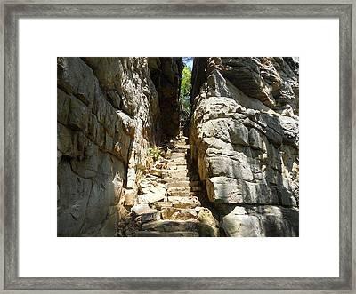 Stone Door Framed Print by Kimberly Hebert