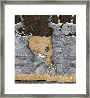Stone Men 28 - Celebration  Framed Print by Variance Collections