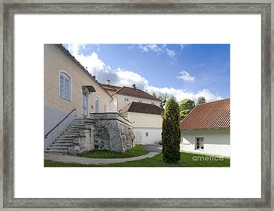 Stone Steps And Walkway Framed Print by Jaak Nilson