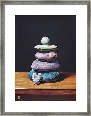 Stone Tower 2 Framed Print by Elena Kolotusha