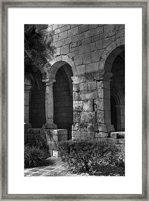 Stone Wall Framed Print by Armando Perez